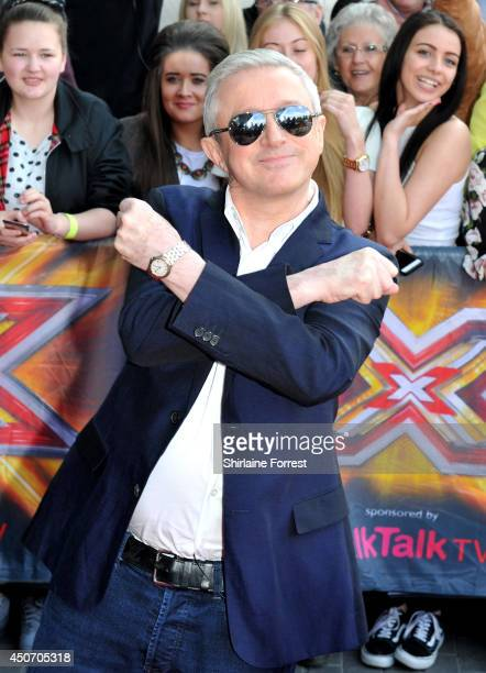 Louis Walsh arrives for the Manchester auditions of The X Factor at Lancashire County Cricket Club on June 16 2014 in Manchester England