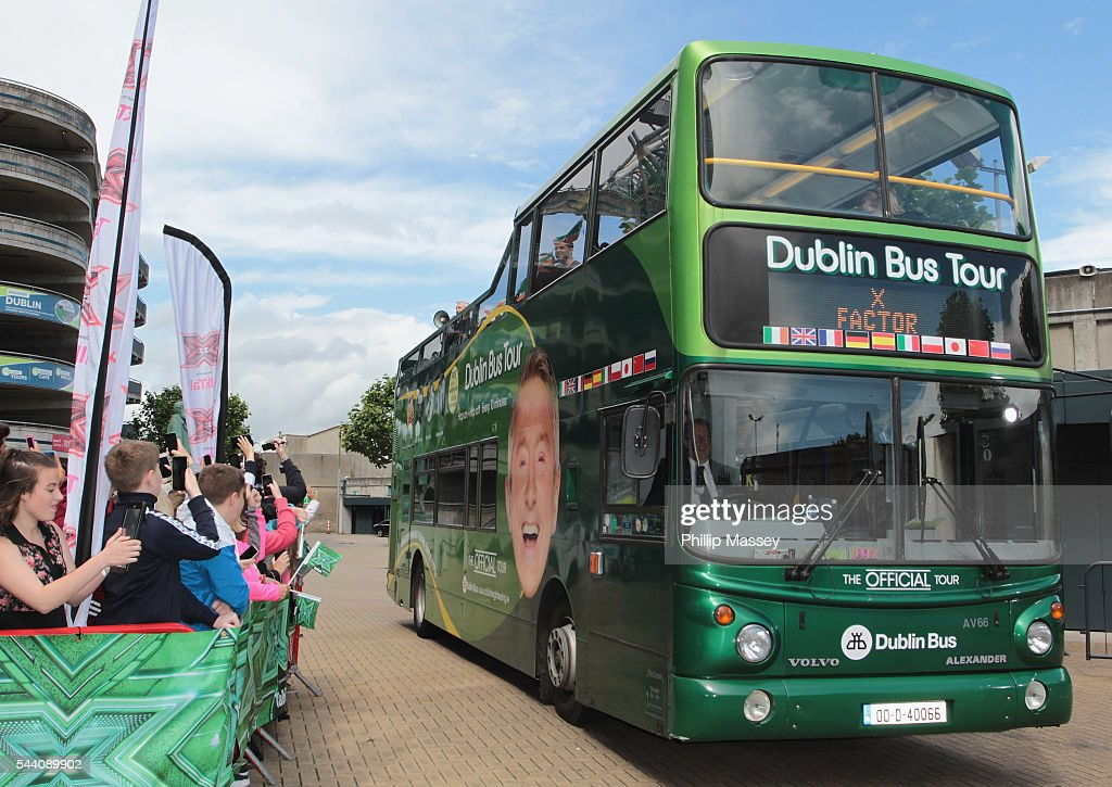<a gi-track='captionPersonalityLinkClicked' href=/galleries/search?phrase=Louis+Walsh&family=editorial&specificpeople=240131 ng-click='$event.stopPropagation()'>Louis Walsh</a> arrives on an open top bus at the Dublin X Factor auditions at Croke Park on July 1, 2016 in Dublin, Ireland.