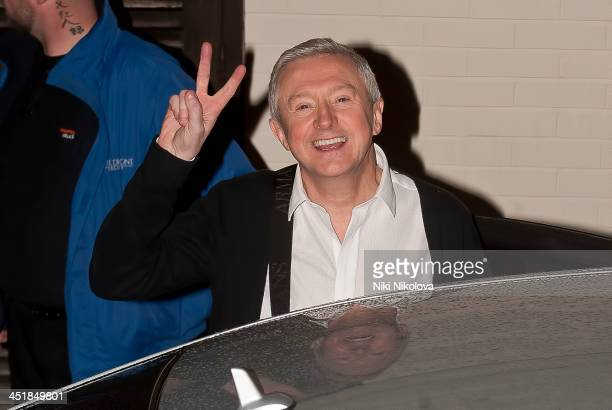 Louis Walsh is seen leaving Fountain studio's after filming the Xfactor Wembley on November 24 2013 in London England
