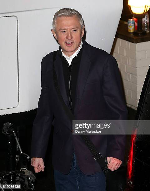 Louis Walsh is seen leaving the Fountain Studios after the X Factor Show on October 16 2016 in London England