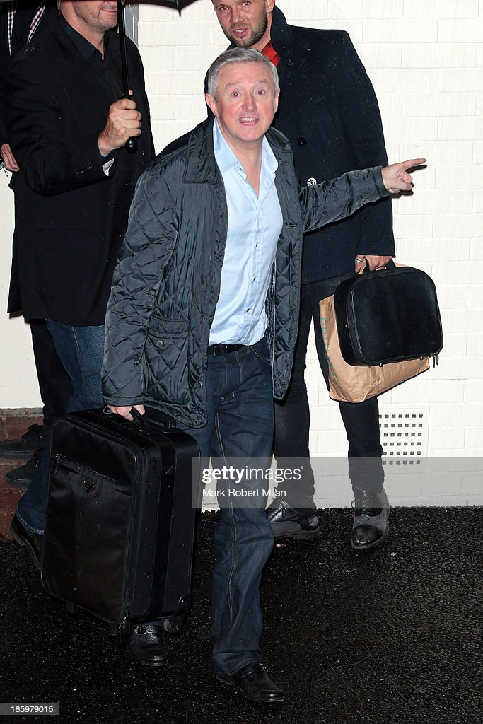 <a gi-track='captionPersonalityLinkClicked' href=/galleries/search?phrase=Louis+Walsh&family=editorial&specificpeople=240131 ng-click='$event.stopPropagation()'>Louis Walsh</a> leaving Fountain Studios after filming the X Factor live show on October 26, 2013 in London, England.