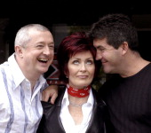 Louis Walsh Sharon Osbourne and Simon Cowell during Ireland Auditions For New TV Talent Show 'X Factor' at Jury's Hotel in Dublin Ireland