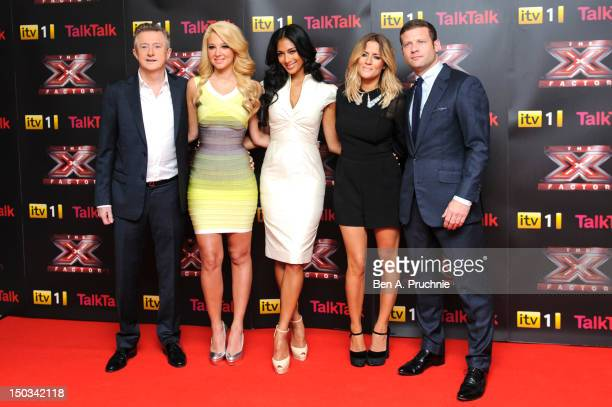 Louis Walsh Tulisa Contostavlos Nicole Scherzinger Caroline Flack and Dermot O'leary arrive at the X Factor conference at Corinthia Hotel London on...