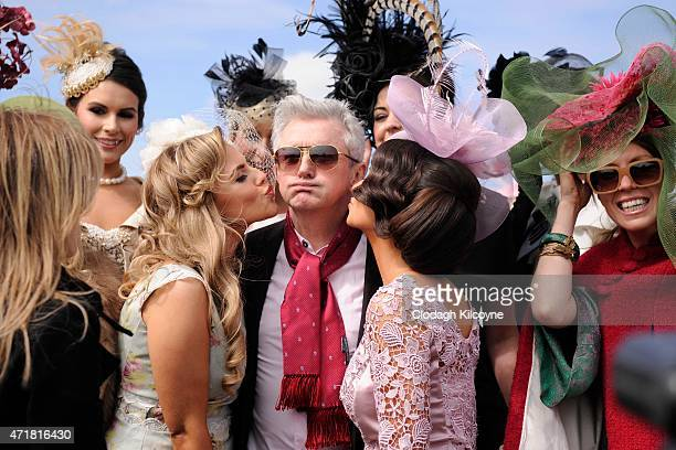 Louis Walsh who was a judge at the final round of Ladies Day at Punchestown Racecourse on May 1 2015 in Naas Ireland