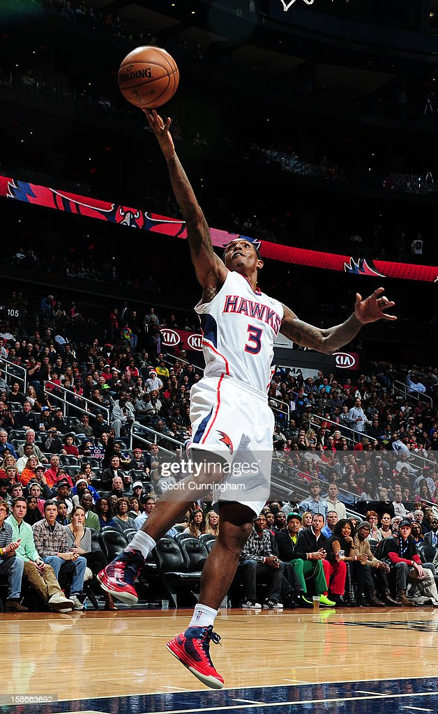 <a gi-track='captionPersonalityLinkClicked' href=/galleries/search?phrase=Louis+Williams&family=editorial&specificpeople=670315 ng-click='$event.stopPropagation()'>Louis Williams</a> #3 of the Atlanta Hawks shoots a layup against the Chicago Bulls on December 22, 2012 at Philips Arena in Atlanta, Georgia.