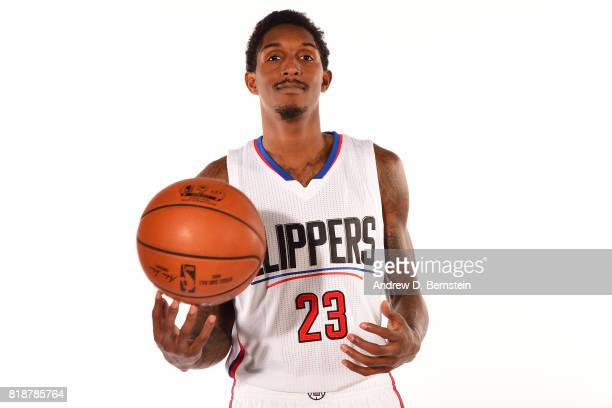 Louis Williams of the LA Clippers poses for a portrait during a shoot in Playa Vista California on July 18 2017 at the Clippers Training Facility...