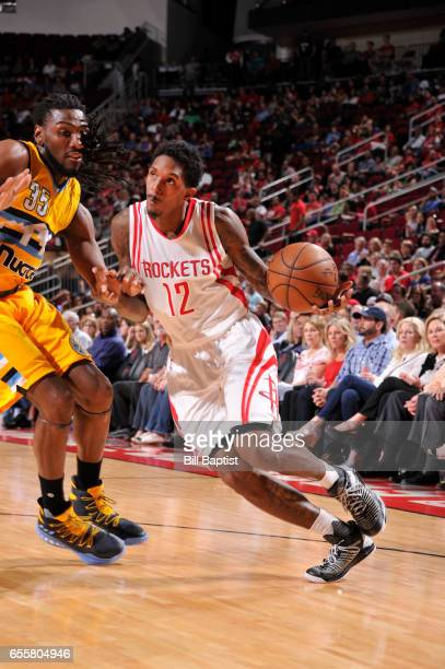 Louis Williams of the Houston Rockets handles the ball during a game against the Denver Nuggets n March 20 2017 at the Toyota Center in Houston Texas...