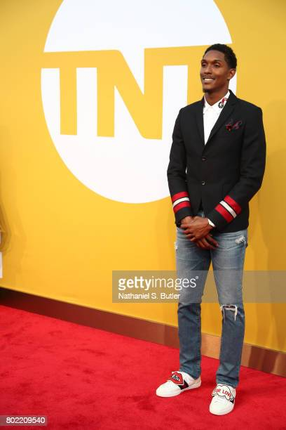 Louis Williams of the Houston Rockets on the red carpet at the NBA Awards Show on June 26 2017 at Basketball City at Pier 36 in New York City New...