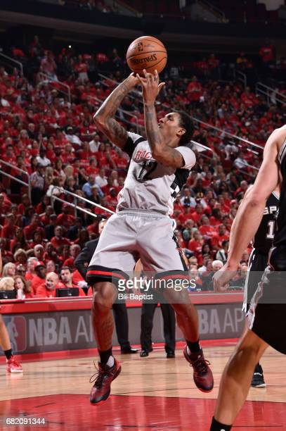 Louis Williams of the Houston Rockets shoots the ball against the San Antonio Spurs during Game Six of the Western Conference Semifinals of the 2017...