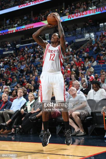 Louis Williams of the Houston Rockets shoots the ball during a game against the New Orleans Pelicans on February 23 2017 at Smoothie King Center in...