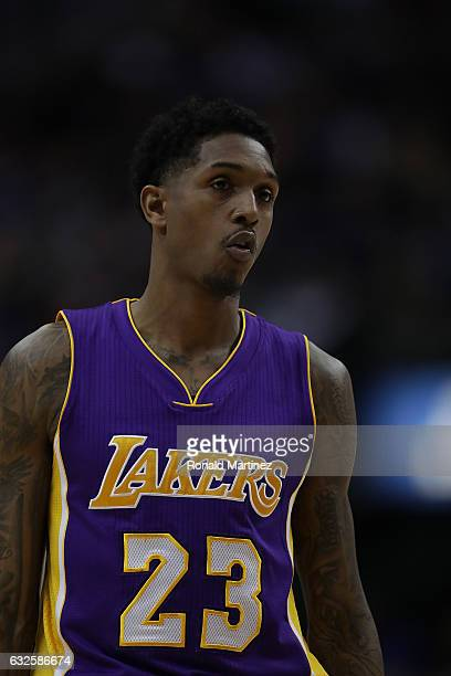 Louis Williams of the Los Angeles Lakers at American Airlines Center on January 22 2017 in Dallas Texas NOTE TO USER User expressly acknowledges and...