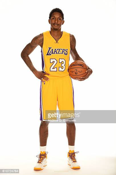 Louis Williams of the Los Angeles Lakers poses for a portrait during the 20162017 Los Angeles Lakers Media Day at Toyota Sports Center on September...