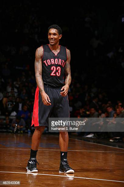 Louis Williams of the Toronto Raptors during the game against the Brooklyn Nets on January 30 2015 at Barclays Center in Brooklyn New York NOTE TO...