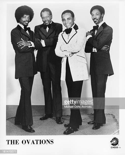 Louis Williams William Young Nathaniel Lewis and another member of the soul group 'The Ovations' pose for a Chess Records publicity portrait in 1975