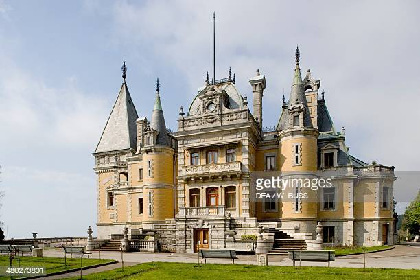 Louis XIII style chateau ordered to be finished by Tsar Alexander III 18811900 designed by Messmacher Maximilian Masandra near Yalta Crimea Ukraine