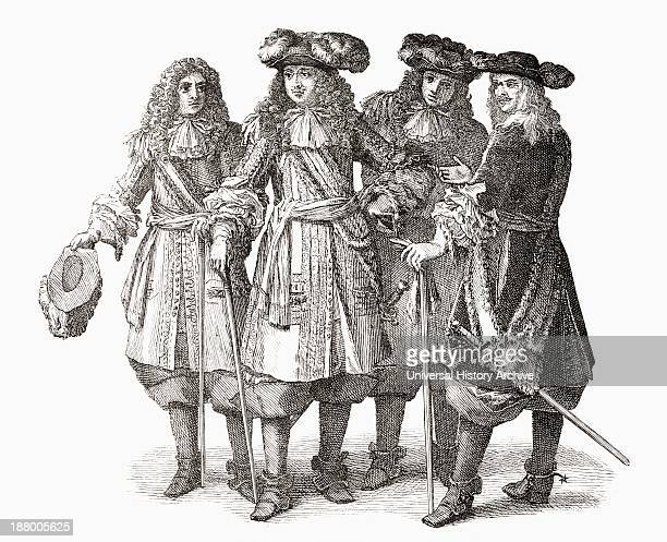 Louis Xiv And Officers Of His Staff Louis Xiv 1638 To 1715 King Of France And Navarre From The Book Short History Of The English People By JR Green...