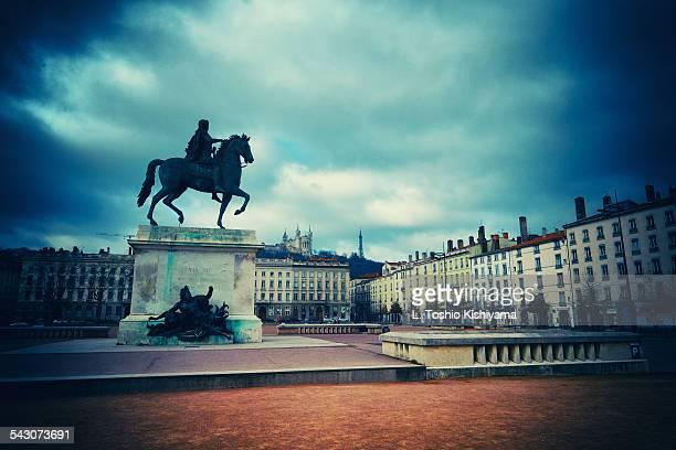 Louis XIV at Place Bellecour in Lyon, France