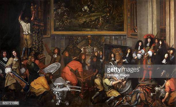 Louis XIV visits the Manufacture des Gobelins on October 15 1667 Found in the collection of Musée de l'Histoire de France Château de Versailles