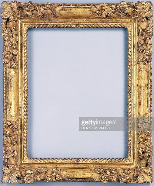Louis XIVstyle frame carved and gilded wood France 17th century