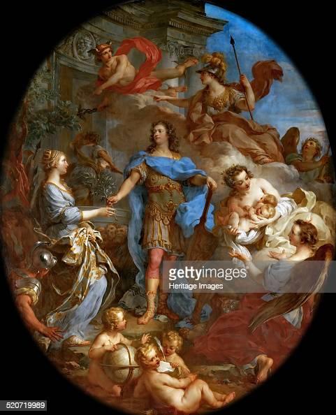 Louis XV Bringing Peace to Europe Found in the collection of Musée de l'Histoire de France Château de Versailles