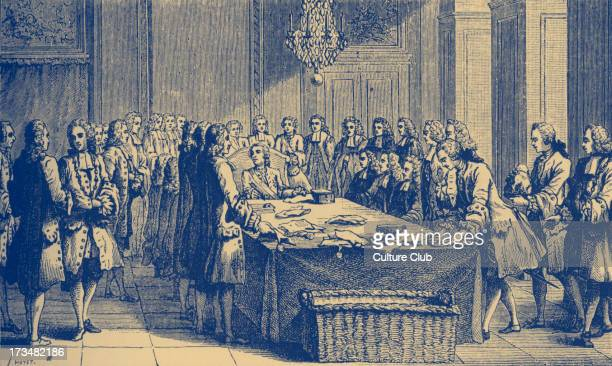 Louis XV king of France holding the Seal in person for the first time March 1757 Symbol of political power over the judiciary system