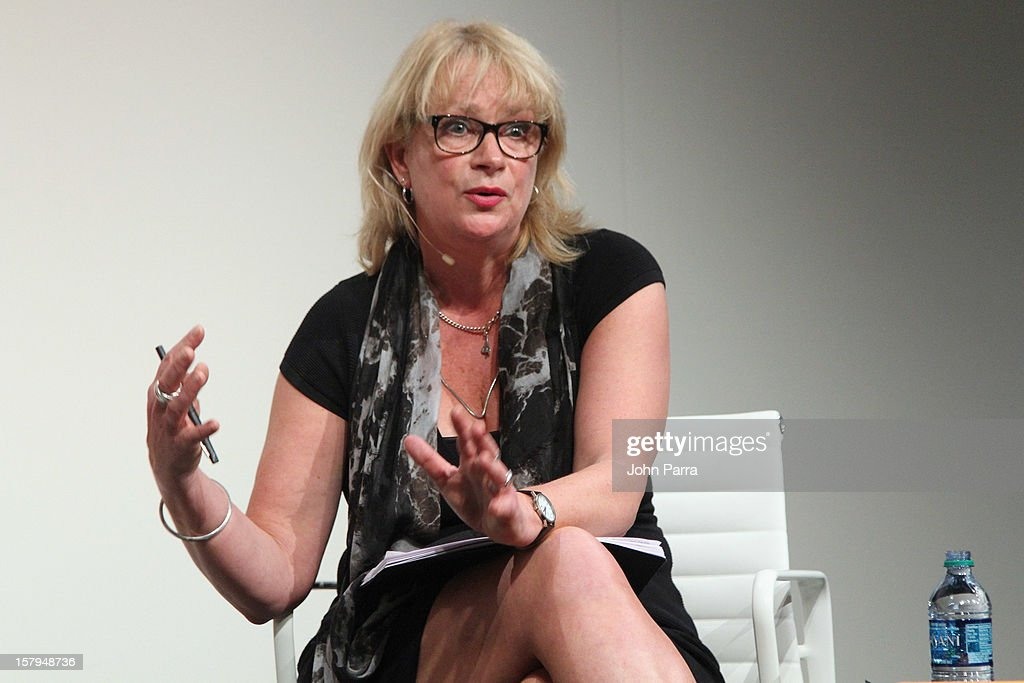 Louisa Buck, Art Critic and Contemporary Art Correspondent for The Art Newspaper speaks during Art Salon at Art Basel Miami Beach 2012 at the Miami Beach Convention Center on December 7, 2012 in Miami Beach, Florida.