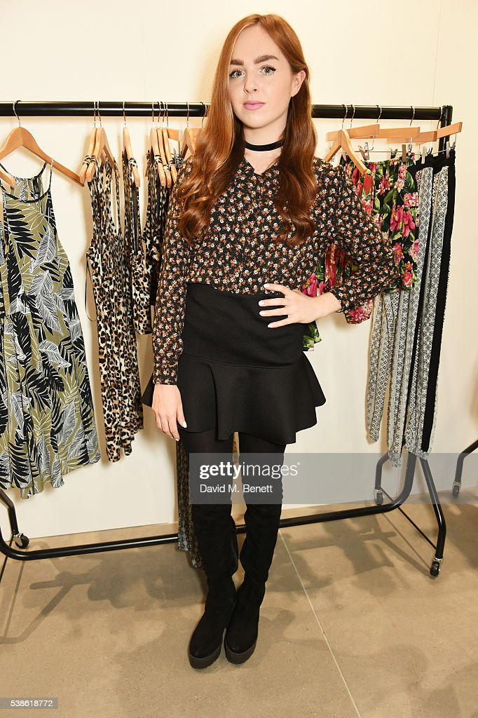 Louisa ConnollyBurnham attends as fashion label Nobody's Child celebrates it's concession launch in Topshop at the Smashbox Studio Store on June 7...
