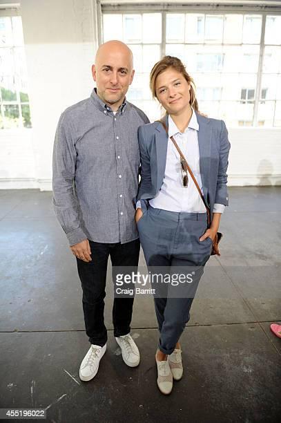 Louisa Gummer and Steven Alan attend the Steven Alan Presentation during MercedesBenz Fashion Week Spring 2015 at Industria Studios on September 10...