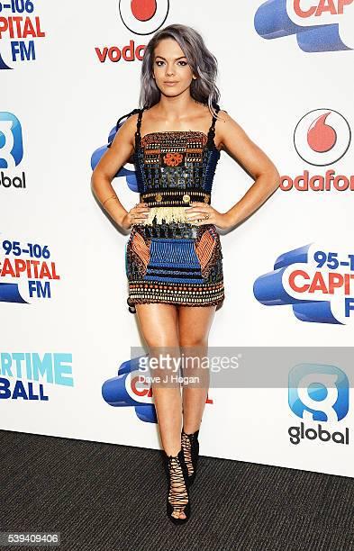 Louisa Johnson arrives for Capital's Summertime Ball at Wembley Stadium on June 11 2016 in London England