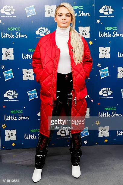 Louisa Johnson attends the Oxford Street Christmas Lights switch on at Oxford Street on November 6 2016 in London England