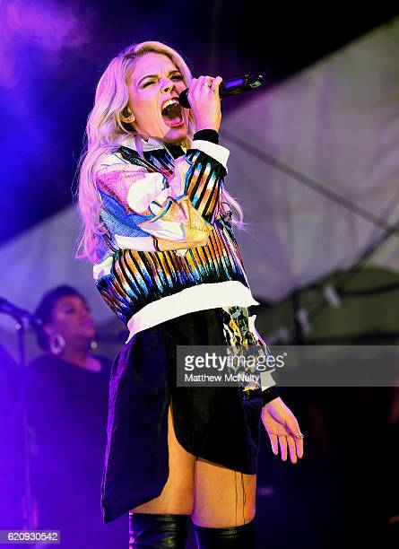 Louisa Johnson performs at Meadowhall Presents Christmas Live at Meadowhall Shopping Centre on November 3 2016 in Sheffield England