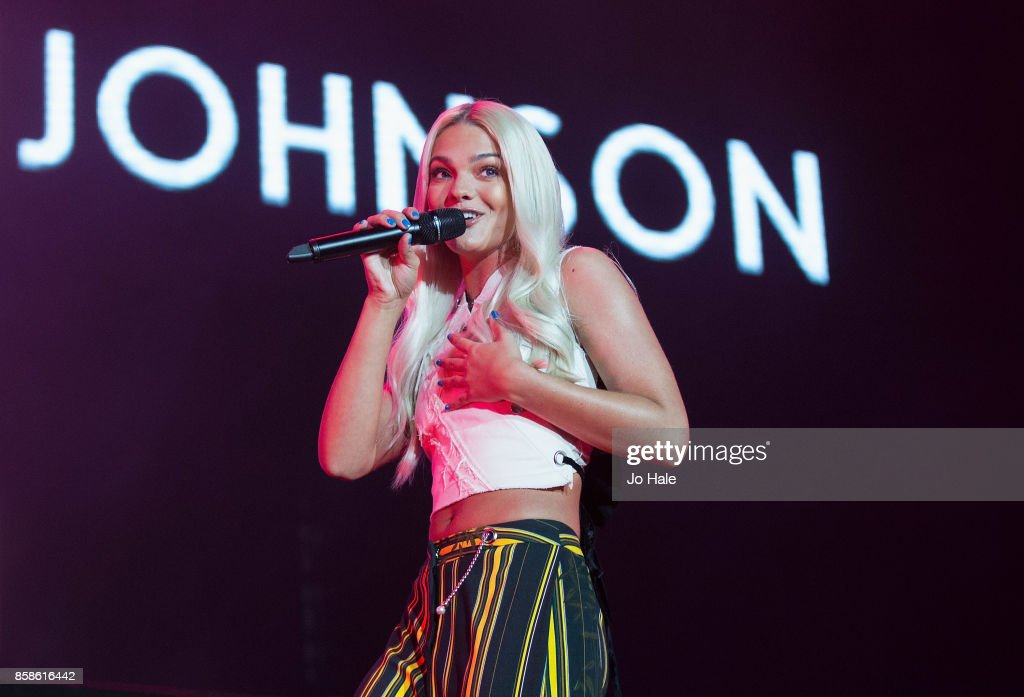 Louisa Johnson performs on stage at Girlguiding UK's Big Gig at SSE Arena on October 7, 2017 in London, England.