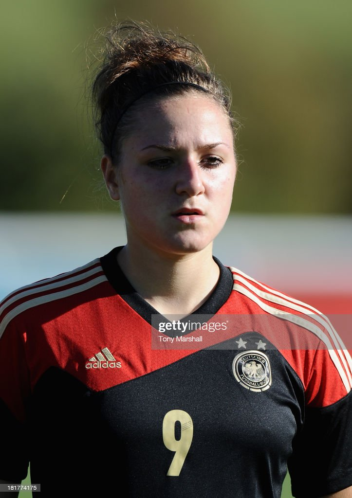 Louisa Lagaris of Germany during the Women's International Friendly match between England Under 19 Women and Germany Under 19 Women at St George's Park on September 22, 2013 in Burton upon Trent, England.