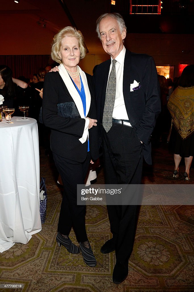 Louisa Lane Fox (L) and Charles Jencks attend the New York School Of Interior Design 2014 Benefit Dinner at 583 Park Avenue on March 10, 2014 in New York City.