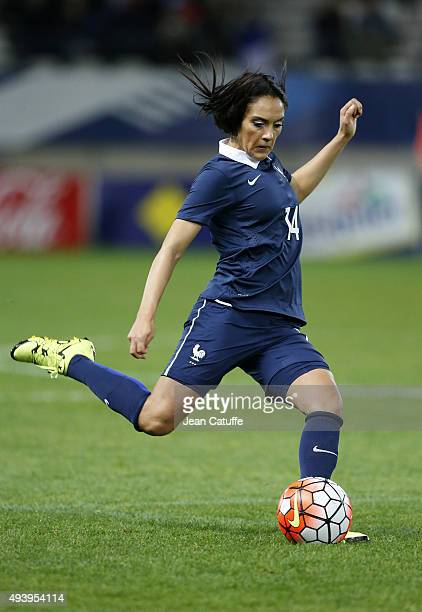 Louisa Necib of France in action during the women's international friendly match between France and The Netherlands at Stade Jean Bouin on October 23...