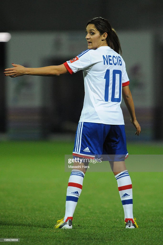 <a gi-track='captionPersonalityLinkClicked' href=/galleries/search?phrase=Louisa+Necib&family=editorial&specificpeople=2333059 ng-click='$event.stopPropagation()'>Louisa Necib</a> #10 of Olympique Lyonnais looks on during the International Women's Club Championship Final Match between INAC Kobe Leonessa and Olympique Lyonnais at Nack5 Stadium Omiya on November 25, 2012 in Saitama, Japan.