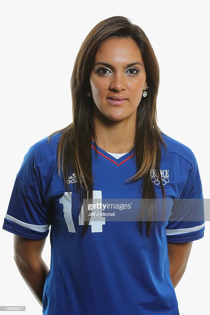 <a gi-track='captionPersonalityLinkClicked' href=/galleries/search?phrase=Louisa+Necib&family=editorial&specificpeople=2333059 ng-click='$event.stopPropagation()'>Louisa Necib</a> poses during the France Women's official Olympic Football Team portraits on July 21, 2012 in Glasgow, Scotland.