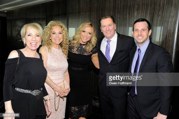 Louisa Rushnell Kathie Lee Gifford Debbie Matenopoulos Randy Pope and Casey Gould attend Crown Media's Upfront Event at Rainbow Room on March 29 2017...
