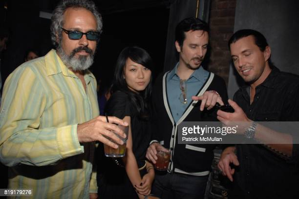 Louisa St Pierre Tim Biskup attend The Supper Club Shepard Fairey's SNO host a Bombay Sapphire Tea Party at The Tea Room on July 20 2010 in Hollywood...