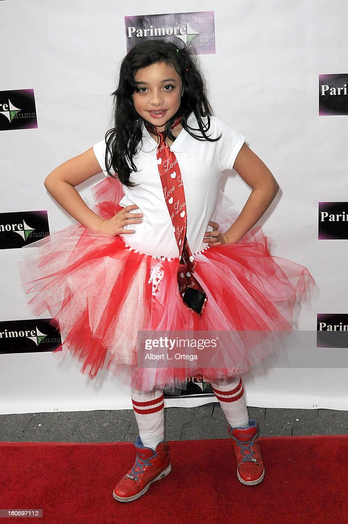 Louisa Tampi arrives for the All Ages Valentine Bash 2013 held at Infusion Lounge on February 2, 2013 in Universal City, California.