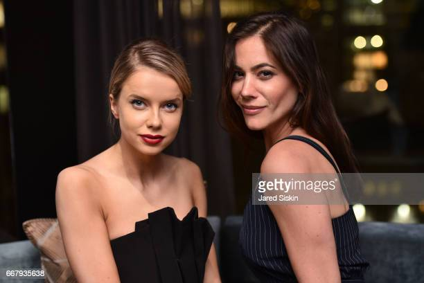 Louisa Warwick and Courtney Fallon attend The Cinema Society with NARS AVION host the after party for Sony Pictures Classics' 'Norman' at The Skylark...