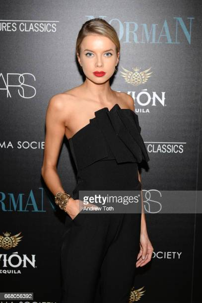 Louisa Warwick attends a screening of Sony Pictures Classics' 'Norman' hosted by The Cinema Society with NARS AVION at the Whitby Hotel on April 12...