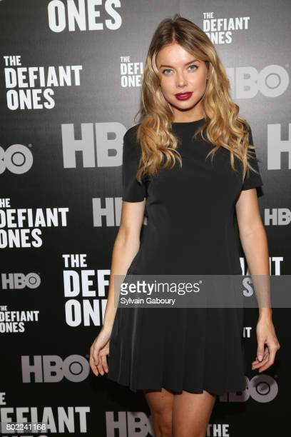 Louisa Warwick attends 'The Defiant Ones' New York premiere on June 27 2017 in New York City