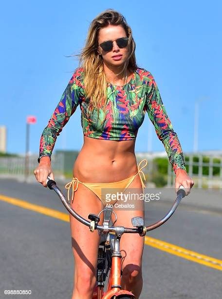 Louisa Warwick is seen during a photo shoot in the Hamptons on June 20 2017 in New York
