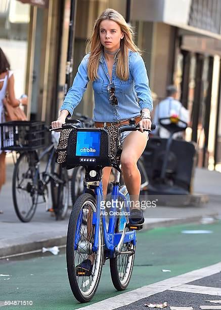 Louisa Warwick is seen in Soho on August 24 2016 in New York City