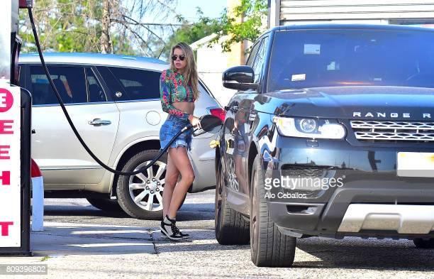 Louisa Warwick is seen on July 5 2017 in The Hamptons