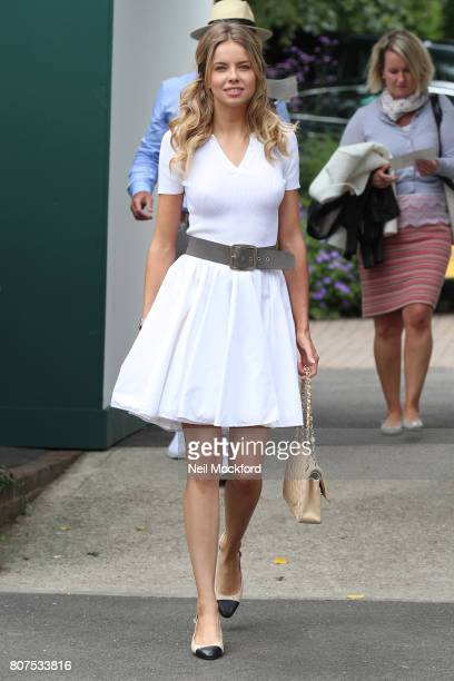 Louisa Warwick seen arriving at Day 2 of Wimbledon 2017 on July 4 2017 in London England