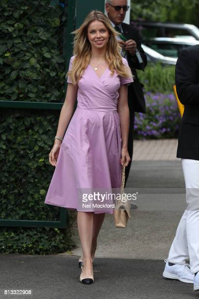 Louisa Warwick seen arriving at Day 9 of Wimbledon 2017 on July 12 2017 in London England