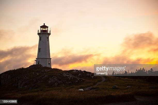 Louisbourg Lighthouse During a Summer Sunset
