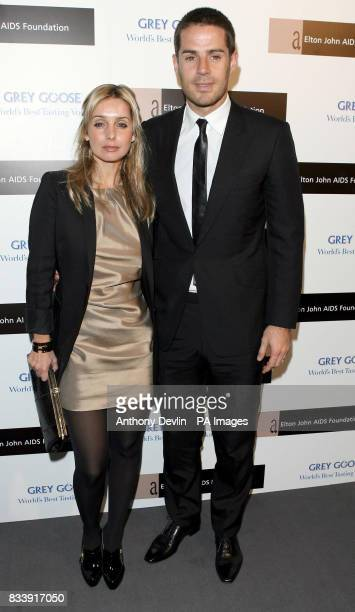 Louise and Jamie Redknapp arrive at the Grey Goose Vodka and The Elton John AIDS Foundation VIP launch party One Piazza Covent Garden London
